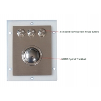 Buy cheap Industrial Stainless Steel Optical Trackball Module With 3 Sealed Waterproof Mouse Buttons product