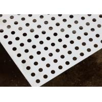 Quality Round Decorative Metal Sheets , Decorative Perforated Aluminum Sheet High Precision Pattern for sale