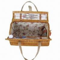 Buy cheap Picnic Basket for Couple, Made of Wicker Material, Bright Color, Cover 2 Sets of Tableware product