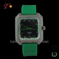 Buy cheap Squared green silicone soprts watches men with good quality from wholesalers