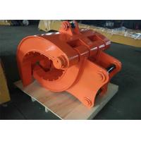 Buy cheap Q345B NM400 Excavator Thumb Grab Hitachi Orange Color 990 mm Bucket Width from wholesalers