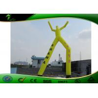 Buy cheap Yellow Double Oxford Cloth Air Dancer , 2 Legs Inflatable Sky Dancer Wind Man product