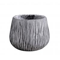 Buy cheap Deep Bowl Round Resin Planter , Hand Painting Cylindrical Resin Plant Pots product