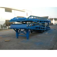 10t Blue Hydraulic Movable Loading Metal Container Ramp