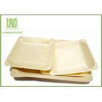 Buy cheap 3.5 Inch Wooden Biodegradable Plates , Small Square Dinner Plates For Dessert product