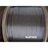 Buy cheap 6x36 Flexible Stainless Steel Guy Wire , Cold Drawn Steel Wire Wear Resisitant product