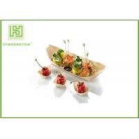 Buy cheap Eco Friendly Wooden Sushi Box , Large Disposable Sushi Containers OEM product
