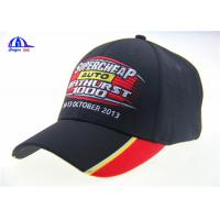 Buy cheap 6 Panel Black Embroidery Custom Baseball Caps product