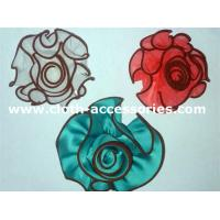 Cheap Colored Ribbon Silk Flower Corsage / Soft Simple Flower Corsages For Prom wholesale