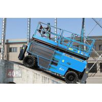 Buy cheap Industrial Rough Terrain Scissor Lifts Platform Machine With Positive Traction Control product