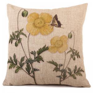 Buy cheap Outdoor Decorative Throw Pillow Covers Case Birds Décor Vintage Spring Cushion Cotton Linen 18x18 Couch Sofa product