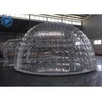 Buy cheap Outdoor Transparent Inflatable Dome Tent For Mobile Hotel / Clear Igloo Tent product
