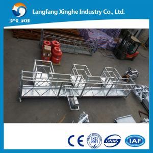 China Aluminum temporary window cleaning suspended platform , building painting gondola platform on sale