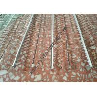 Quality V Type Reinforced Rib Lath Mesh , 610mm Width 0.3mm Thickness Galvanized Metal Lath for sale