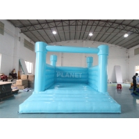 Buy cheap PVC Material Inflatable Bouncy Jumping Castle Blue Slide Commercial Castle Inflatable Kids Bounce House product