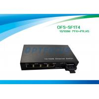 Buy cheap Optical 4 Port Ethernet Switch 10 / 100BASE - Tx 100BASE - Fx 125×27×85 mm product
