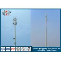 Buy cheap 45m Round Telecommunication Towers Mobile Phone Antenna Towers product