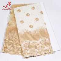 Buy cheap African Swiss Tulle Bridal Lace Fabric For Haute Couture Dress from wholesalers