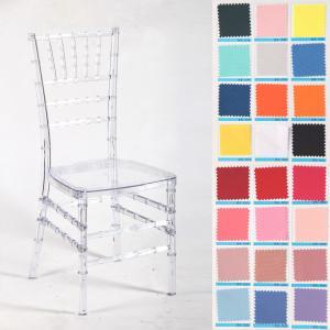 China Transparent Clear Acylic Resin Sillas Tiffany Chiavari Wedding Chairs on sale