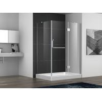 Buy cheap Hinge open shower door with stainless steel 304 hinge and towel bar handle,3/8 inches clear tempered glass from wholesalers