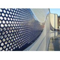 Buy cheap Powder Coated Decorative Perforated Metal Good Strength Easy To Clean product