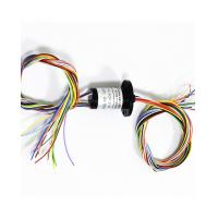 Buy cheap Maintenance-Free Small Size Slip Ring 18 Wires With Power Signal Transmit Flange Mounting product