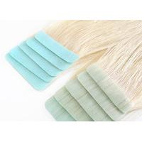Buy cheap Glossy Blonde Tape In Hair Extensions High Durability No Split Easy To Wear product