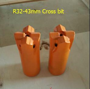 China Thread R32-43mm Cross bit on sale