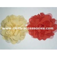 China Mesh Single Yellow Flower Corsage / 10 Artificial Flower Wrist Corsage on sale