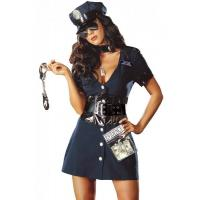 Buy cheap Halloween Corrupt Cop Adult Princess Costume Sexy Police Officer Swat product