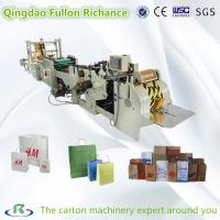 China Roll Square Bottom Automatic Shopping Paper Bag Making Machine with handle making on sale