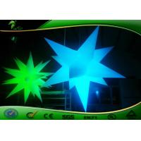 Buy cheap Dia 2m  Inflatable Lighting Decoration Star Shaped Light For Event product