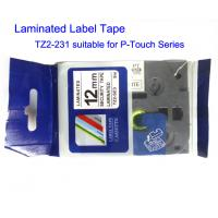 Buy cheap Compatible Label And Ribbon Tape Black On White Width 12mm Length 8m Tape TZ2-231 product