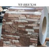 China Durable PPGI Prepainted Steel Coil With Brick Patterned For Wall Panel on sale
