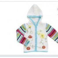 Buy cheap Hooded Long Sleeve 100% Cotton and acrylic yarn Thick Knitted Baby coat , Wear from wholesalers