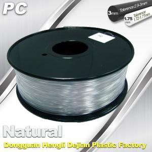 Buy cheap Good Transmission of Light PC 3D Printer Transparent Filament 1.75mm / 3.0mm product