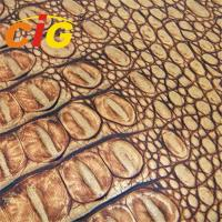 Buy cheap Lady Bag Imitation Crocodile Grain Synthetic Leather Material Width 132cm - 137cm product