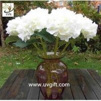 Buy cheap UVG FHY23 Decoration flower artificial white hydrangea for indoor party decoration product