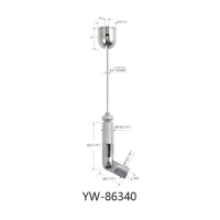 Buy cheap Ceiling Light Suspension Kit Nickel Plated Brass With Adjustable Gripper YW86340 product