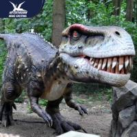 Buy cheap Zoo Equipement Realistic Dinosaur Models Handmade Customizable Size product