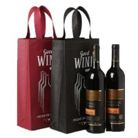 Quality Custom Design Non Woven Wine Bags Reusable Wine Gift Bags Eco Friendly for sale