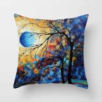 Buy cheap Throw Pillow cushion Covers, Decorative Pillowcase for Home Sofa Bedding Couch,Cotton Linen Map Pillow Covers product