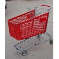 Buy cheap 180L Metal Chassis Supermarket Shopping Carts Plastic 1030 x 575 x 1015mm product