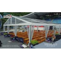 Buy cheap 15x15 Meter Outdoor Event Tents with Aluminum Frame and Transparent Roof Cover and Sides for Catering product