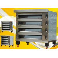 Buy cheap Stone Gas 4 Deck 12 Trays Electric Baking Oven , Stainless Steel Deck Oven with Steam product