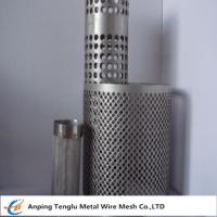 Buy cheap Wire Mesh Filter Tube|Flat Kintting Weave with Round Hole Shape product
