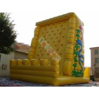 Buy cheap 0.55mm PVC Tarpaulin Inflatable Sports Games / Exciting Outdoor Rock Inflatable Climbing Mountain product