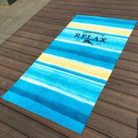 Buy cheap Large Stripe Promotional Beach Towels With Raw Finest Egyptian Cotton product