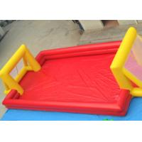 Buy cheap Red Outdoor Football Playground Inflatable Sports Games For Kids product