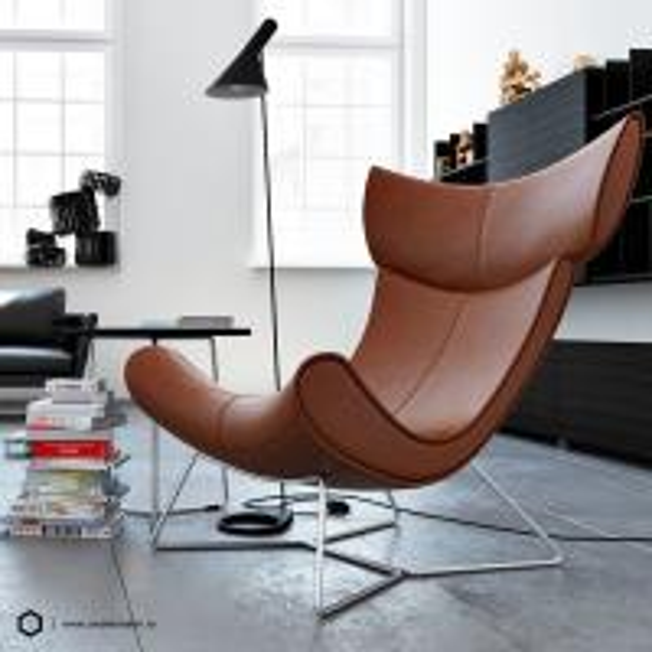 Quality Replia Henrik Pedersen Boconcept Imola Chair Fiberglass / Leather Comfortable for sale